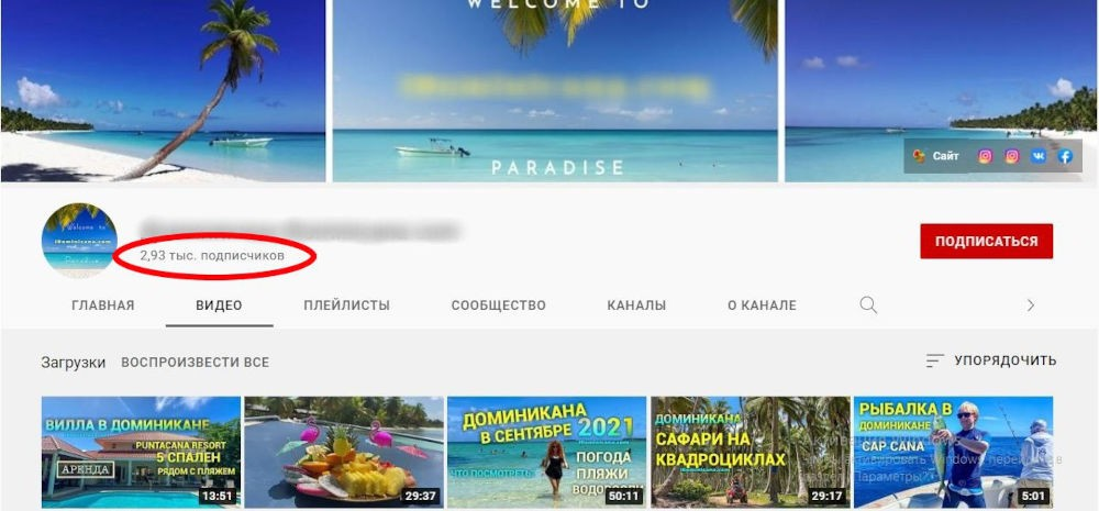 100, 1000 подписчиков на youtube с гарантией